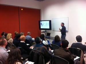 Foto del seminario sobre Linkedin en Boadilla
