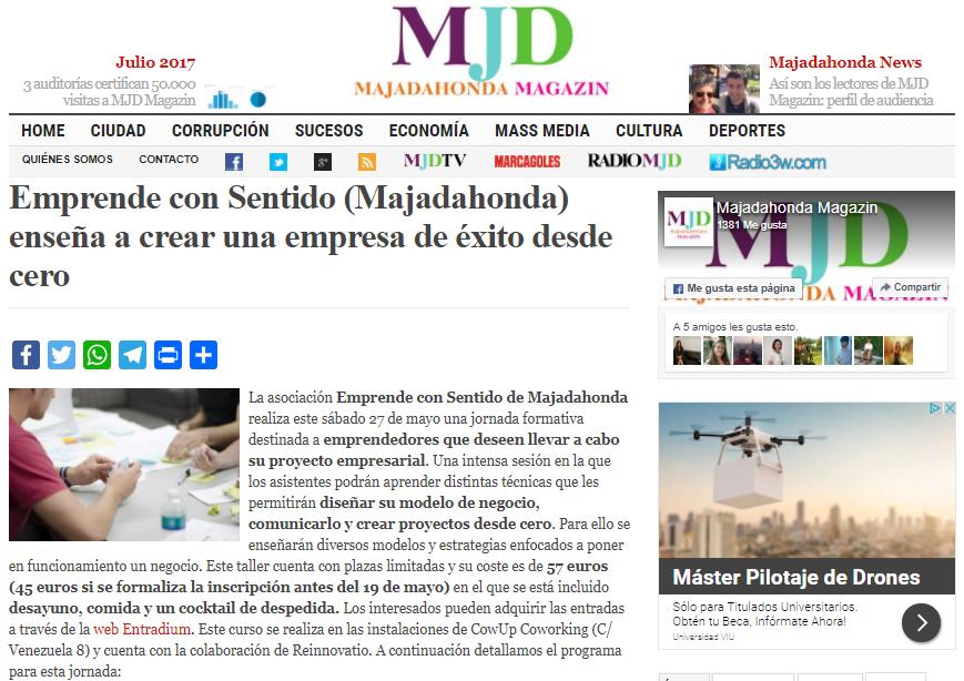 Noticia de la Jornada ADE en MJD Magazin