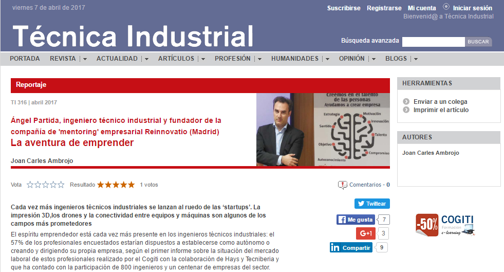 Imagen entrevista para Técnica Industrial