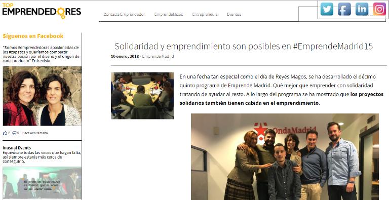Artículo Top Emprendedores, entrevista en Onda Madrid