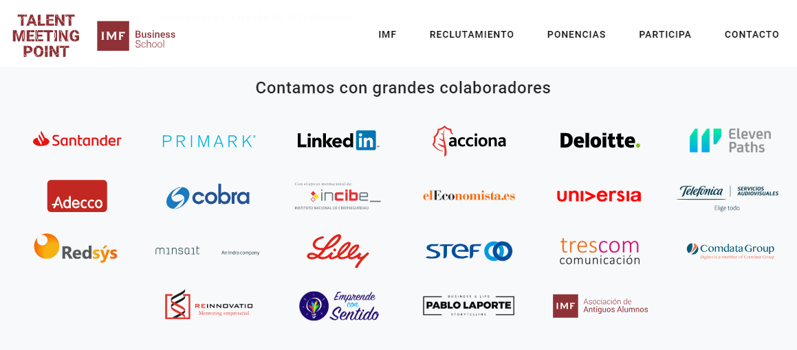IMF empresas participantes Talent Meeting Point