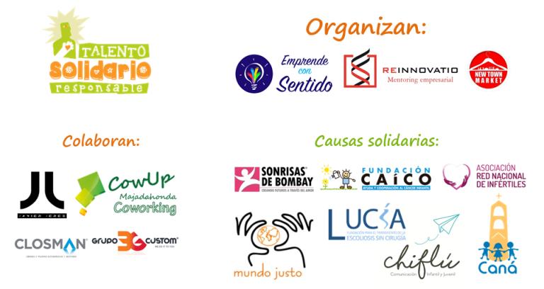 Talento Solidario Responsable logos organizadores